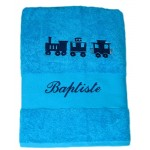 Drap de bain petit train