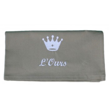 Serviette de table WIN couronne carreau