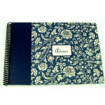 Album pour photos de classe floral liberty bleu