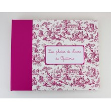 Album photos XL toile de jouy rose