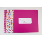 Album pour photos de classe fuchsia tranche liberty bleue