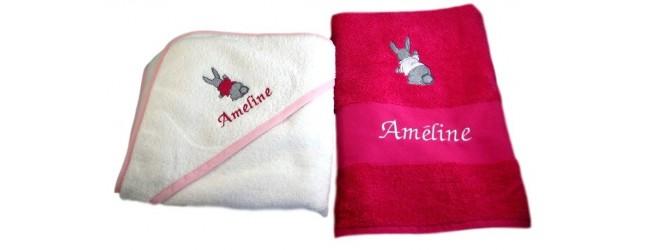Coffret serviette et cape de bain