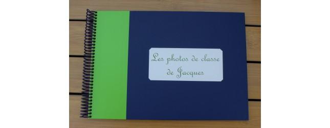 Album photos de classe bicolore